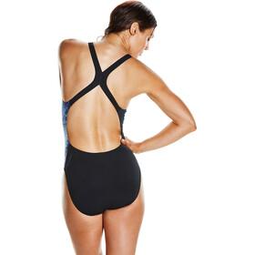 speedo EnergyFlo Powerback Swimsuit Women Black/Violet/Spearmint